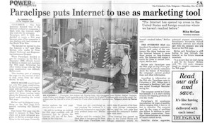 Link to Newspaper Article on Start of Work with Internet in 1996 in PDF Format